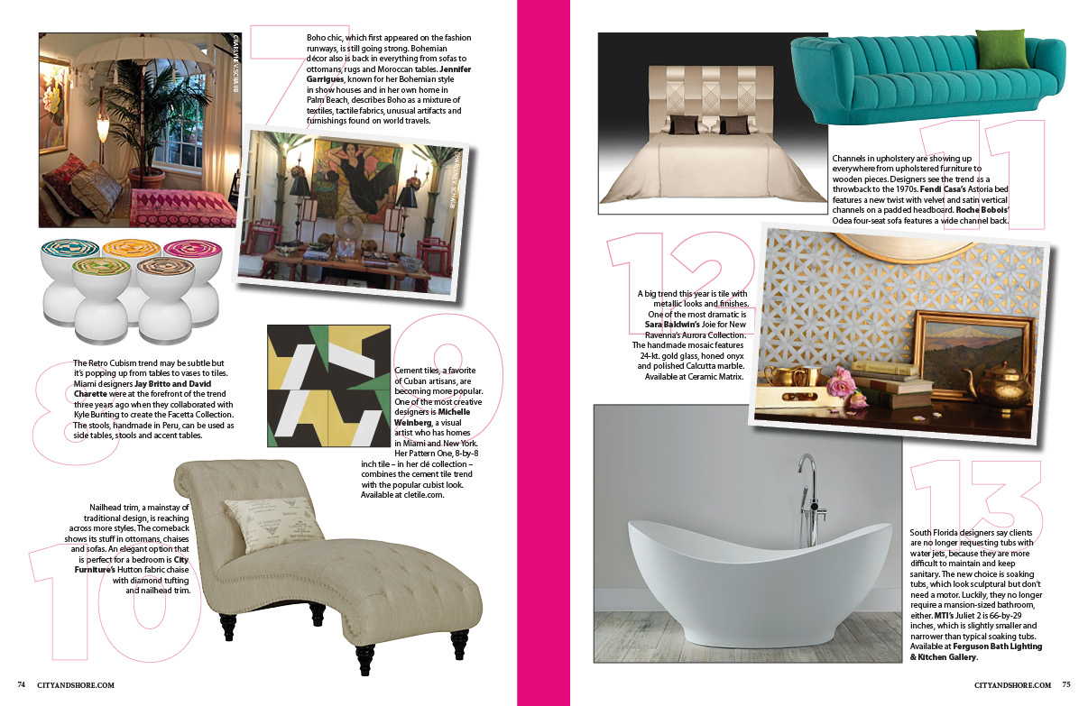 Vignette Featured On The Cover, And On Pg. 70, By MM Designs, Information  561 671 1958, Info@mmdesignsllc.com.